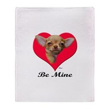 A Baby Chihuahua Valentine Throw Blanket