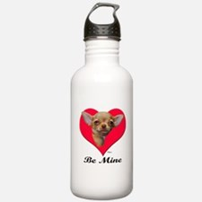 A Baby Chihuahua Valentine Water Bottle
