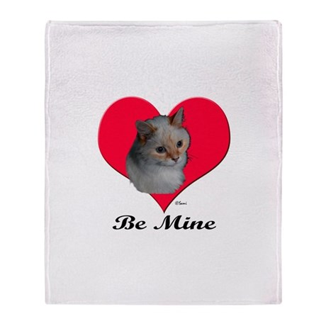 Kekoe the cat's Valentine Throw Blanket