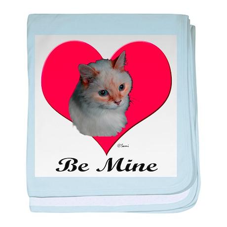 Kekoe the cat's Valentine baby blanket