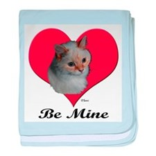 Kekoe the cat's Valentine baby blanket