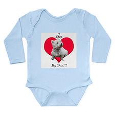 Sitting Westie Loves Dad Long Sleeve Infant Bodysu