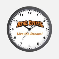 Real Estate - Live the Dream! Wall Clock
