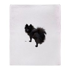 Black Pomeranian Throw Blanket