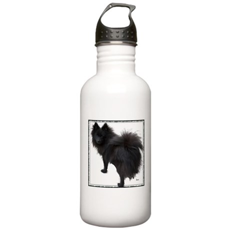 Black Pomeranian Stainless Water Bottle 1.0L