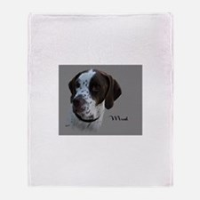 Mud the English Pointer Throw Blanket