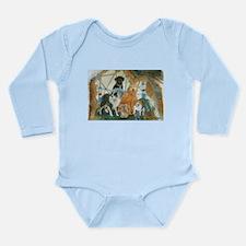 Dreamcatcher with 5 dogs Long Sleeve Infant Bodysu