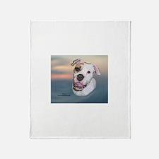 Rosie, Am. Bulldog Throw Blanket
