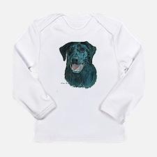 Dakota, the Black Lab Long Sleeve Infant T-Shirt