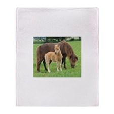 2005 Mini Colt Brantley & Mom Throw Blanket