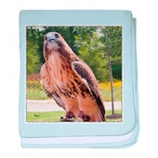 Red tail hawk (1) baby blanket