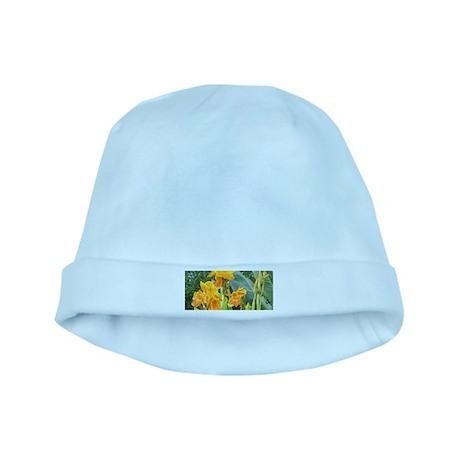 Orange Canna Flowers baby hat