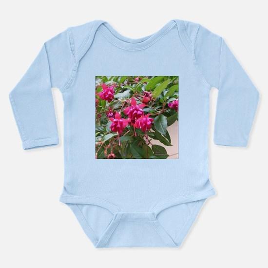 Bleeding Hearts Flower Long Sleeve Infant Bodysuit