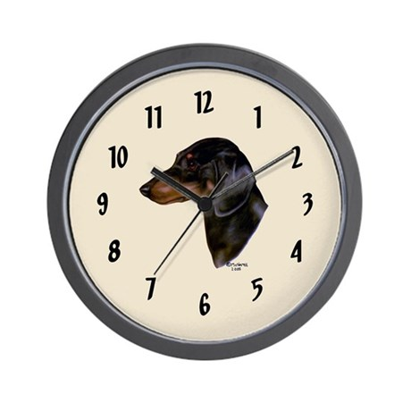 Smooth Dachshund Wall Clock