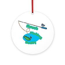 Simon's Fishing Buddy Ornament (Round)