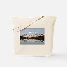 Alaska: Lake reflections of mountains Tote Bag