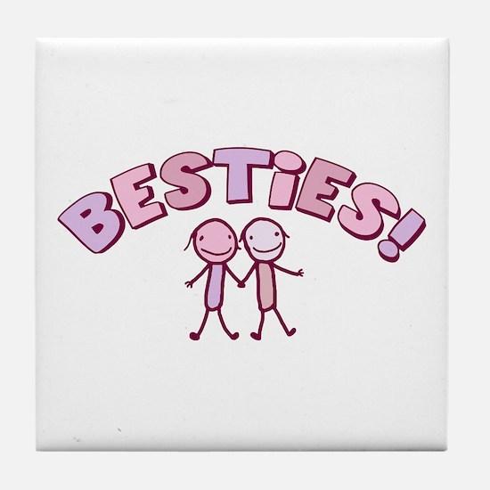 Besties Tile Coaster