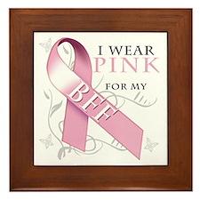 I Wear Pink for my BFF Framed Tile