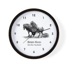 Belgian Horse Wall Clock