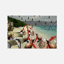 The Lobster Quadrille Rectangle Magnet