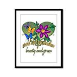 Beautiful Grandmother Framed Panel Print