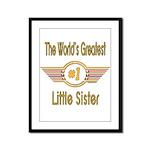 Number 1 Little Sister Framed Panel Print