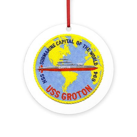 USS Groton SSN 694 Ornament (Round)