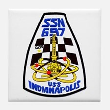 USS Indianapolis SSN 697 Tile Coaster