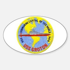 USS Groton SSN 694 Oval Decal