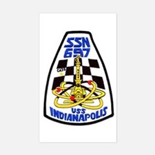 USS Indianapolis SSN 697 Rectangle Decal