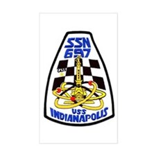 USS Indianapolis SSN 697 Rectangle Stickers