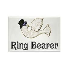 Dove & Tophat - Ringbearer Purple Rectangle Magnet