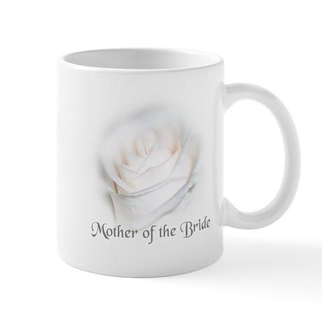 Mother Of the Bride White Ros Mug