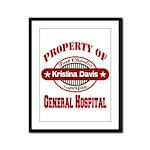 Property of Kristina Davis Framed Panel Print