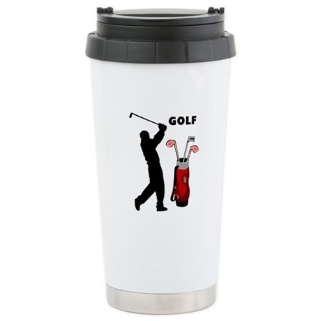 Golf Swing Stainless Steel Travel Mug