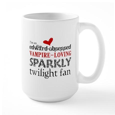 Sparkly Twilight Fan Large Mug