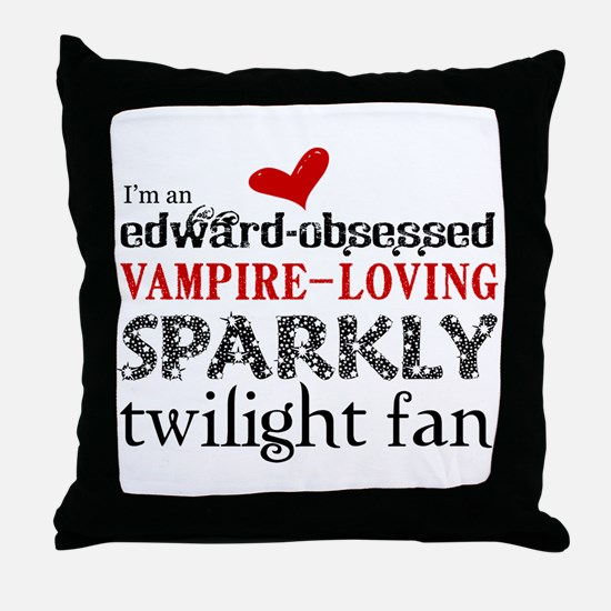 Sparkly Twilight Fan Throw Pillow