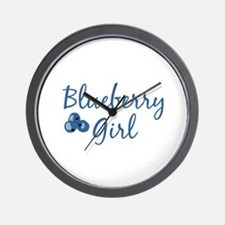 Blueberry Girl Wall Clock