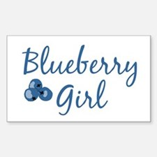 Blueberry Girl Rectangle Decal