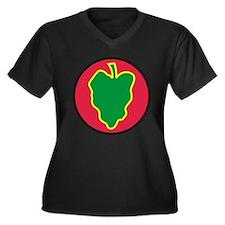 Unique 24th infantry division victory Women's Plus Size V-Neck Dark T-Shirt