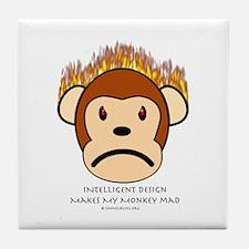 Intelligent Design Makes My Monkey Mad Tile Coaste