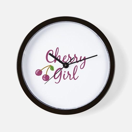 Cherry Girl Wall Clock