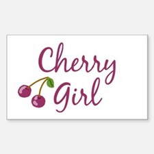 Cherry Girl Rectangle Decal
