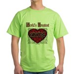 World's Best Godmother Green T-Shirt