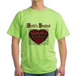 World's Best Temptation Green T-Shirt