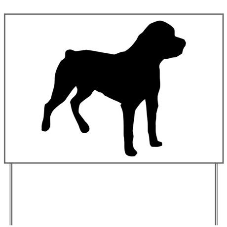 Rottweiler Shadow Yard Sign
