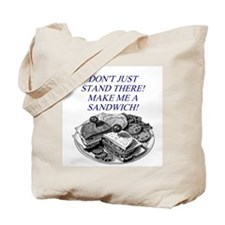 sandwich male chauvinist pig Tote Bag