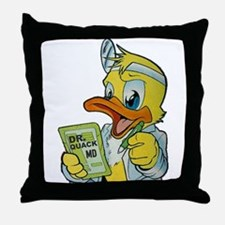 Quackery the Duck, MD Throw Pillow