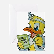 Quackery the Duck, MD Greeting Card
