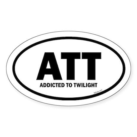 Addicted to Twilight Euro Sticker (Oval)
